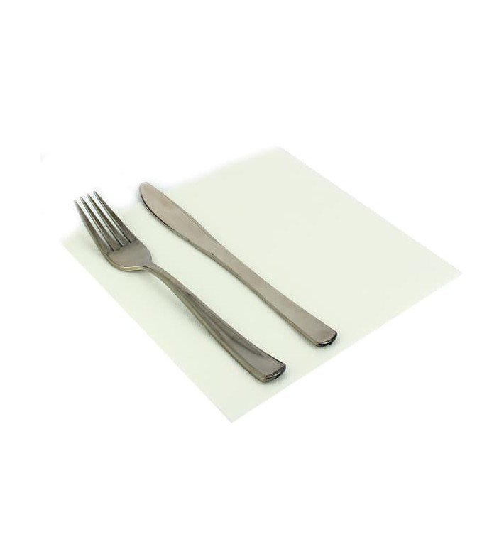 Serviette en papier Molletonnée 40X40 Blanche (1.200 Unités)