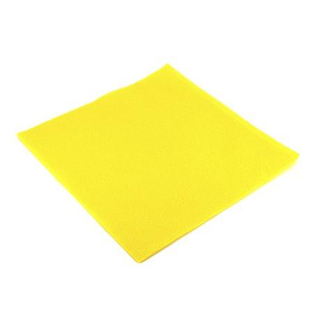 Serviette en papier UNIE 40X40 Jaune (50 Unités)