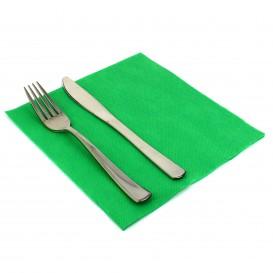 Serviette Papier Molletonnée 40x40 Vert (50 Unités)