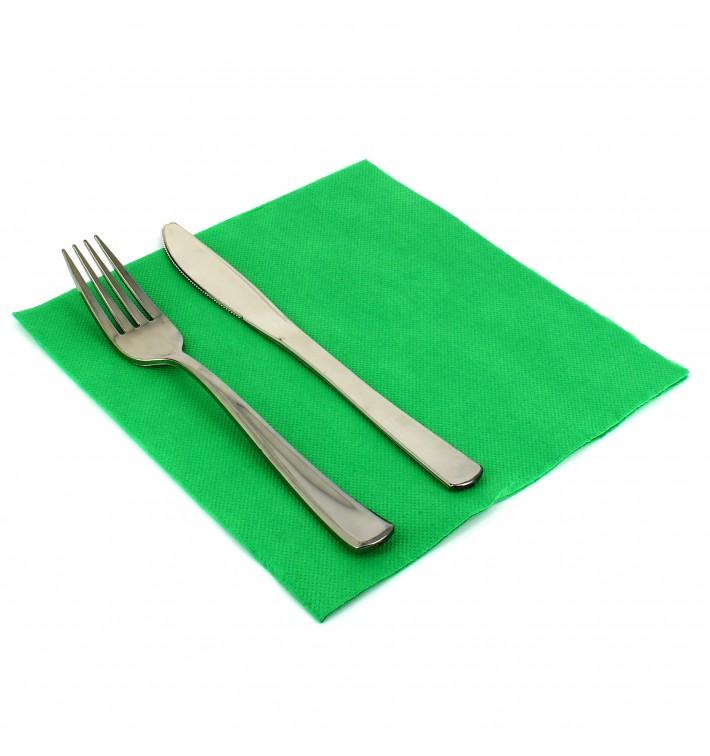 Serviette en papier Molletonnée 40X40 Vert (1.200 Utés)