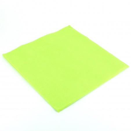 Serviette en papier UNIE 40X40 Verte Lime (50 Unités)