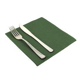 Serviettes en papier molletonnée 40X40 Verte (50 Unités)