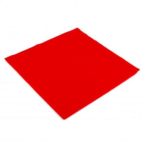 Serviette en papier UNIE 40X40 Rouge (1.200Utés)