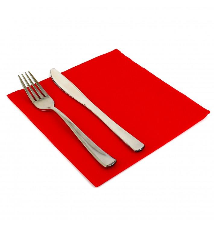 Serviette Papier Molletonnée 40X40 Rouge (1.200 Utés)