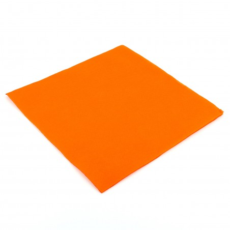 Serviette en papier UNIE 40X40 Orange (50 Unités)