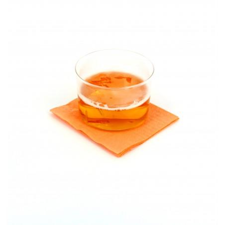 Serviette cocktail 20x20 Saumon (3.000 Unités)