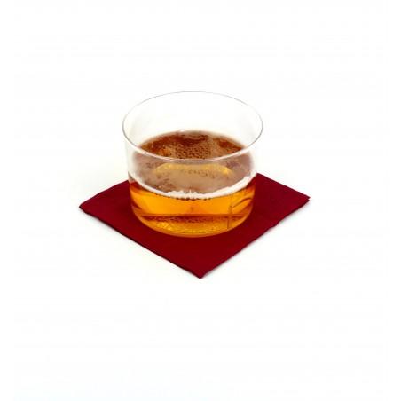 Serviette cocktail 20x20 Bordeaux (3.000 Unités)