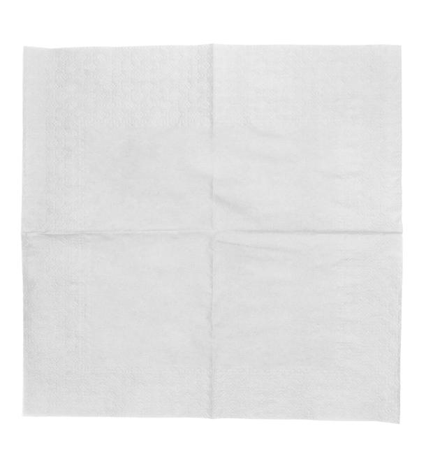 Serviette Papier à Cocktail  20x20cm Blanc (100 Unités)