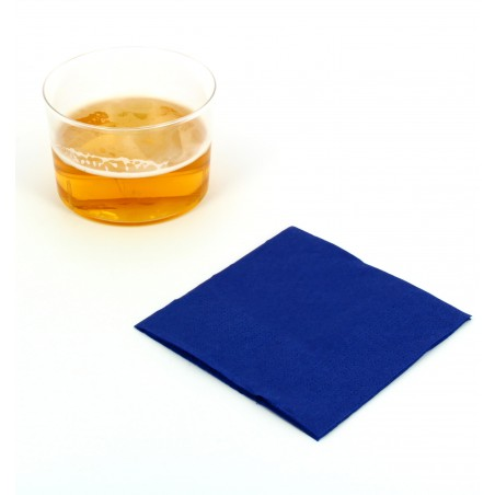 Serviette cocktail 20x20 Bleu (100 Unités)