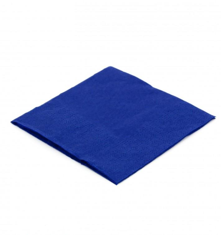 Serviette cocktail 20x20 Bleu (6.000 Unités)
