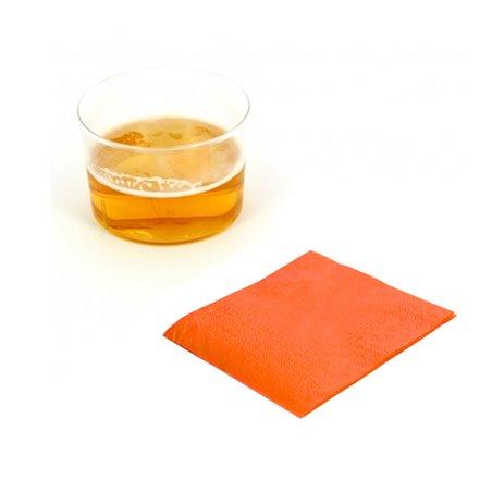Serviette cocktail 20x20 Orange (100 Unités)