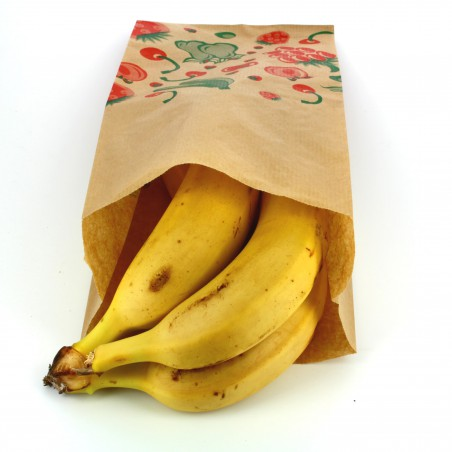 Sac Fruit Kraft 14+7x28cm (100 Utés)