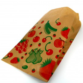Sac Fruit Kraft 18+10x32cm (100 Utés)