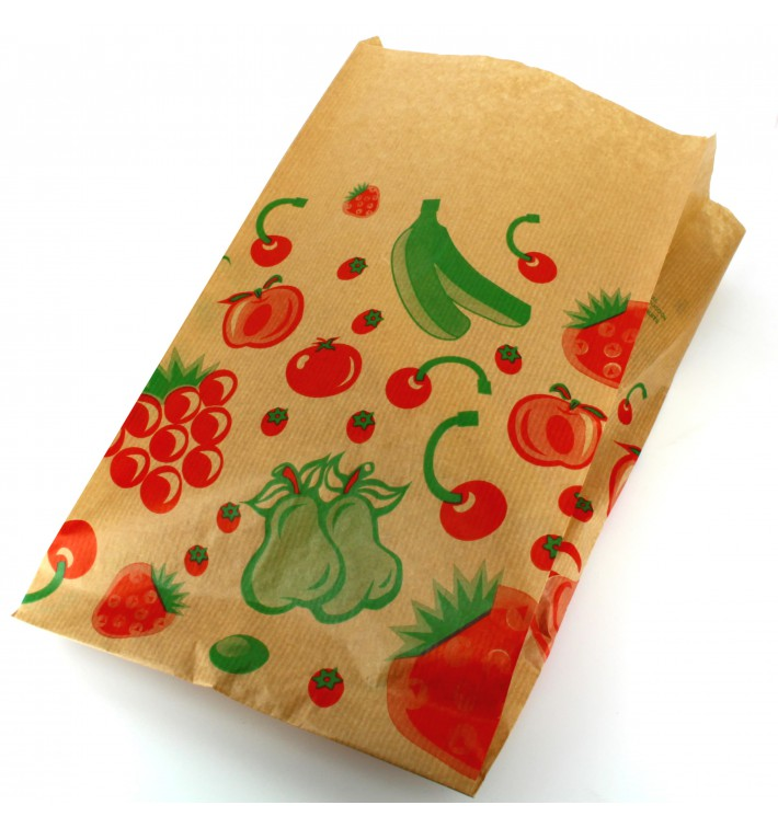 Sac Fruit Kraft 22+12x36cm (100 Utés)