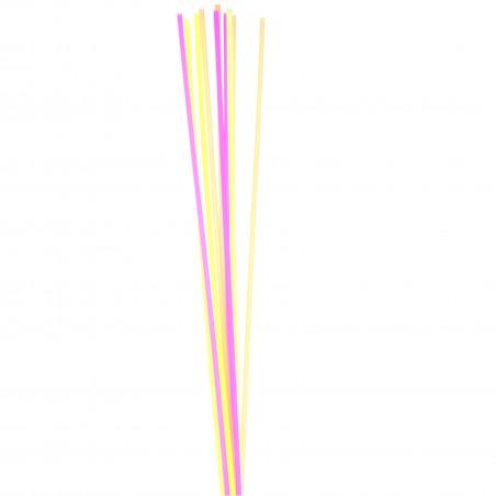 Pailles Droites Neon Ø8mm 70cm (25 Unités)