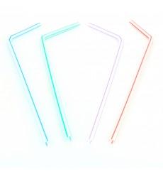 Pailles Flexibles Emballées Individuellement Ø5mm 23cm (1.000 Utés)