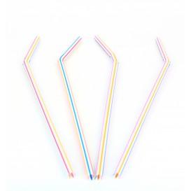 Plastic rietje flexibel PS Ø0,5cm 23cm (10000 stuks)