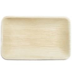 Assiette rectangulaire en Feuilles de Palmier 25x16x3cm (200 Unités)