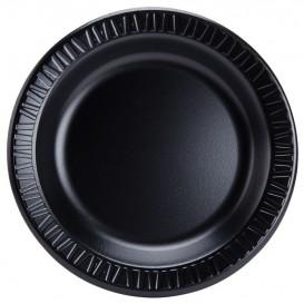 """Schuim bord """"Quiet Classic"""" gelamineerd zwart 23 cm (500 stuks)"""