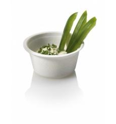 Pot Bio à Sauce en Canne à Sucre Blanc 55ml (50 Utés)