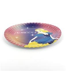 Assiette carton Princesse 18cm (12 Unités)