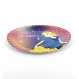 Papieren bord Princess Design 23cm (8 stuks)