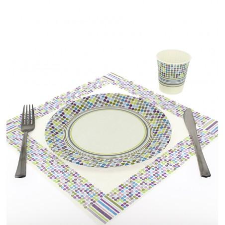 Assiette carton décorée 23cm (504 Unités)