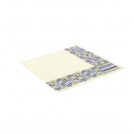 Papieren servet Strepen en mollen Design 33x33cm (20 eenheden)