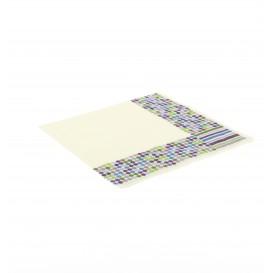Papieren servet Strepen en mollen Design 33x33cm (500 eenheden)