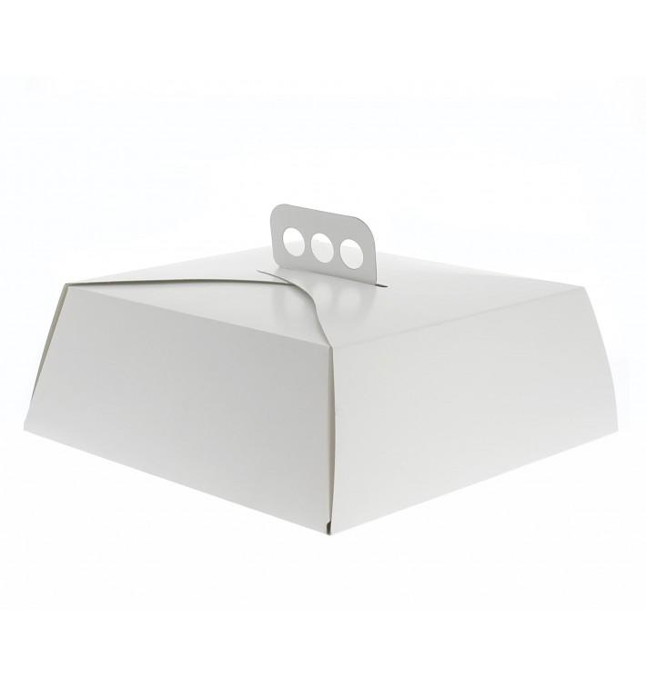 Boîte en Carton Blanc Tarte Carrée 27,5x27,5x10 cm (50 Utés)