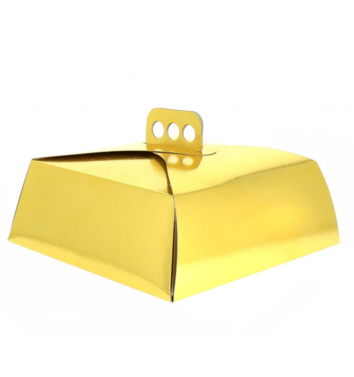 Boîte En Carton Doré Tarte 30,5x30,5x10 cm (50 Utés)