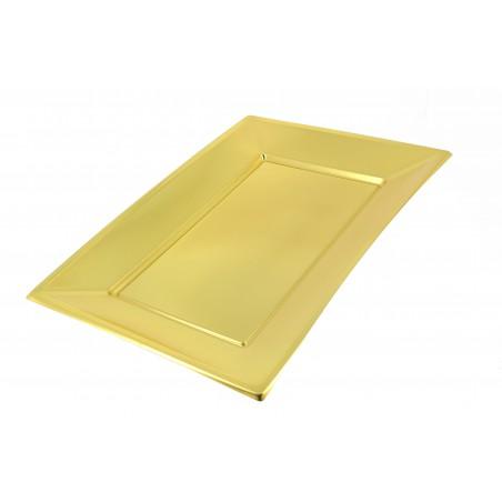 Plateau Plastique Doré rectang. 330x 225mm (90 Utés)