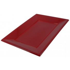Plastic dienblad bordeauxrood 33x22,5cm (3 stuks)