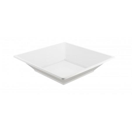 Assiette Plastique Carrée Creuse Blanche 170mm (25 Utés)