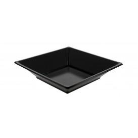 Assiette Plastique Carrée Creuse Noire 170mm (360 Utés)