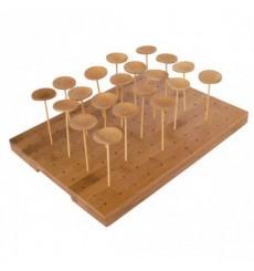 Support en Bambou pour Piques 25x30x1,3cm (20 Utés)