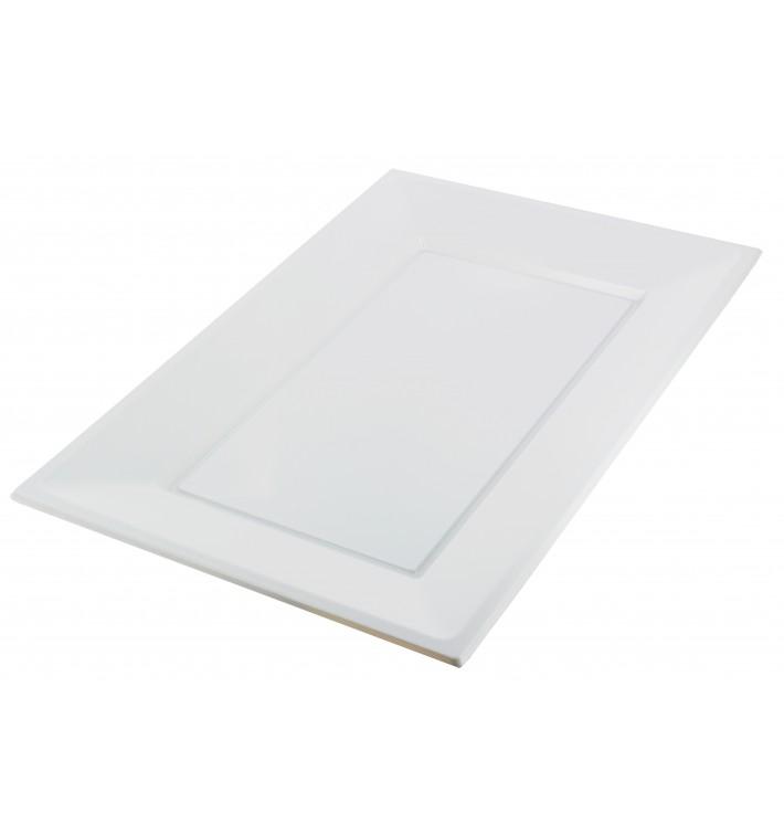 Plateau Plastique Blanc Rectang. 330x 225mm (3 Unités)