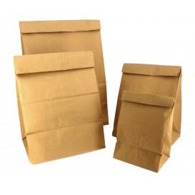 Sac en papier KRAFT sans anses 12+8x24cm (25 Unités)