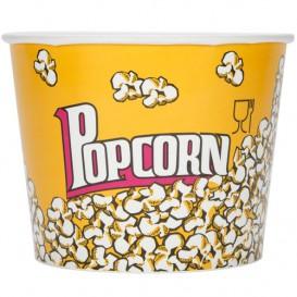 Papieren Popcorn doosje 5400ml 22,5x16x21cm (50 stuks)