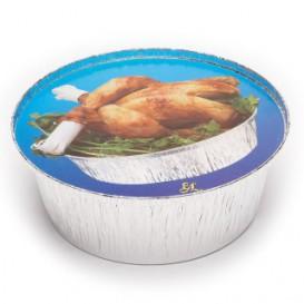 Papieren Deksel voor Geroosterde kip Rond vormig 1900ml (500 stuks)