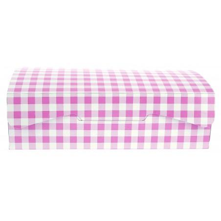 Boîte pâtissière 18,2x13,6x5,2cm 500g.  Rose (250 Utés)