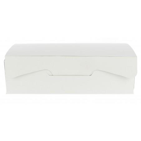Boîte pâtissière 18,2x13,6x5,2cm 500g. Blanc  (5 Utés)