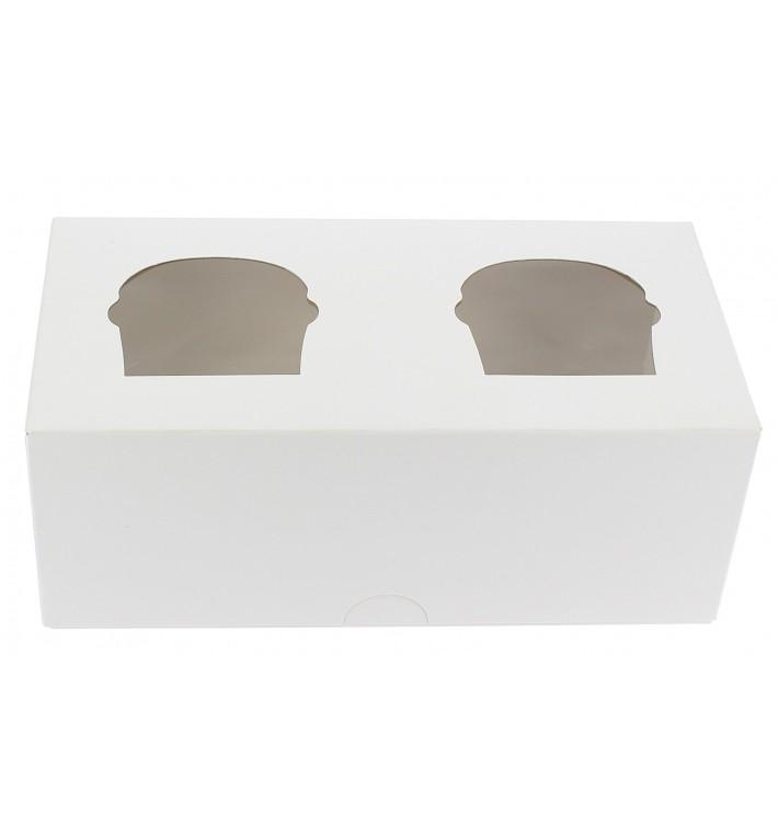 Boîte pour 2 Cupcakes Blanc avec insert (160 Unités)