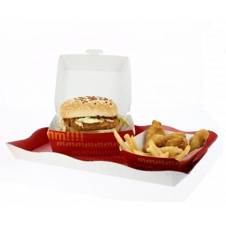 Boîte à Hamburger Carton XXL 15,5x15,5x8 cm (350 Utés)