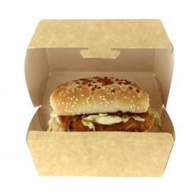 Boîte à Hamburger Kraft 12x12x7 cm (450 Unités)