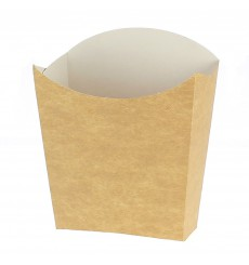 Papieren Container voor frietenkraft klein maat 8,2x2,2x9cm (25 eenheden)
