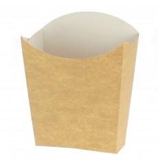 Papieren Container voor frietenkraft medium maat 8,2x3,5x12,5cm (25 eenheden)