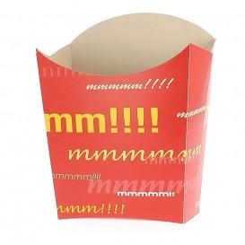 Papieren Container voor frietenklein maat 8,2x2,2x9cm (25 stuks)