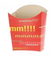 Papieren Container voor frietenklein maat 8,2x2,2x9cm (25 eenheden)