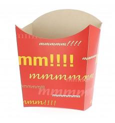 Papieren Container voor frietenmedium maat 8,2x3,5x12,5cm (25 eenheden)